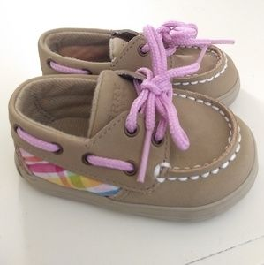 SPERRY TOPSIDERS Size 1 Girls Infant